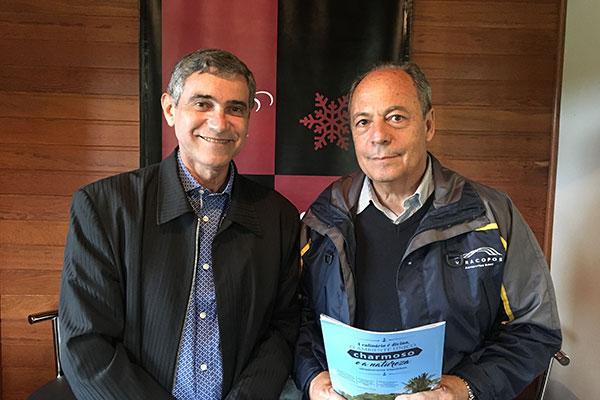 O colunista Gilvan Passos e Eduardo Pioli Bassetti, proprietário da Villaggio Bassetti