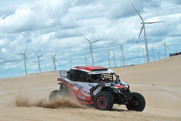 Prova teve início com briga bonita nas dunas de São Miguel do Gostoso