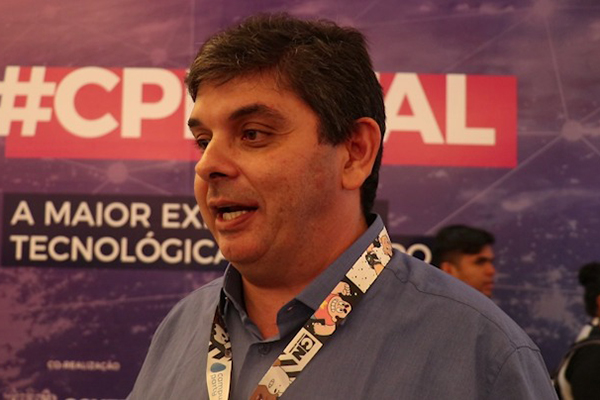 Pedro Fernandes Ribeiro, reitor da Universidade do Estado do Rio Grande do Norte, durante a Campus Party Natal