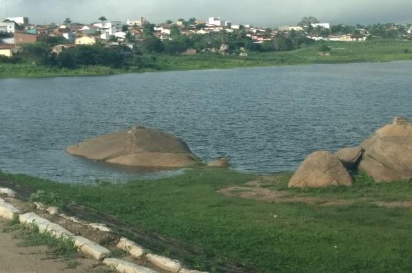 Açude Eloy de Sousa, na zona urbana de Cerro Corá