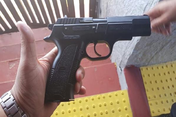 Arma utilizada durante o crime