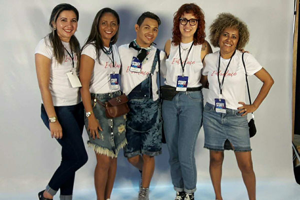 Roberta Kelly, Helena Patrícia, Nill Senna, Layla Mendes e Jarlene Andrade representam IFRN Caicó