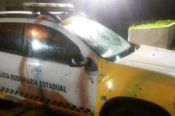 Em Macaíba, viatura da CPRE foi metralhada por bandidos