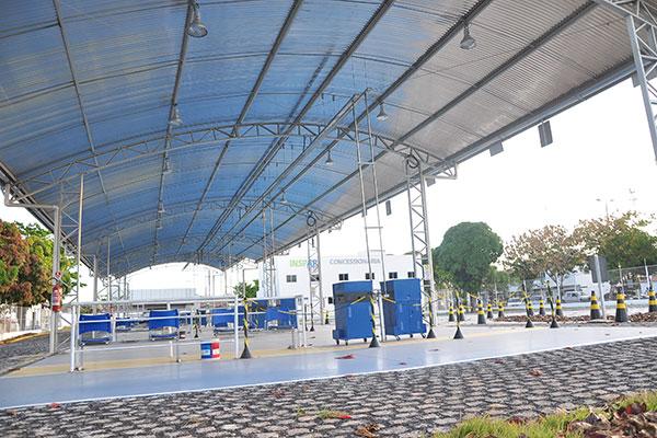 Consórcio Inspar chegou a montar estrutura, na Cidade da Esperança, que foi desmontada em abril de 2011, após suspensão do contrato