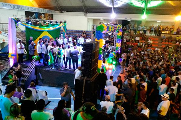Bolsonaro participa de evento no Palácio dos Esportes