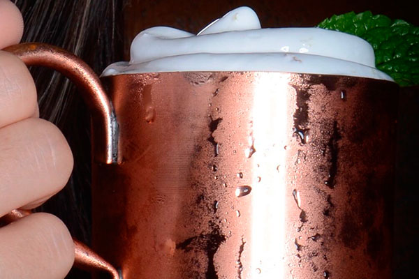 No Restaurante Mulle, a espuma de gengibre é receita da casa