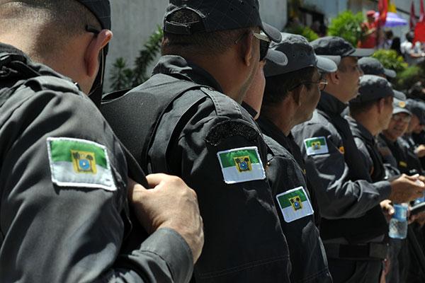 Policiais militares de folga e em serviço foram convocados para participar do ato, que agregará outras categorias da Segurança
