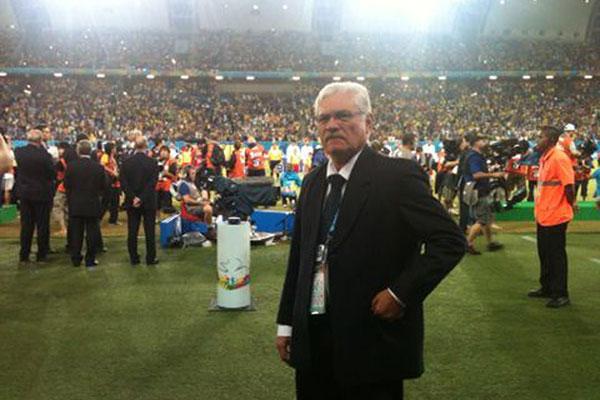 Maeterlink Rêgo durante jogo da Copa do Mundo no Brasil