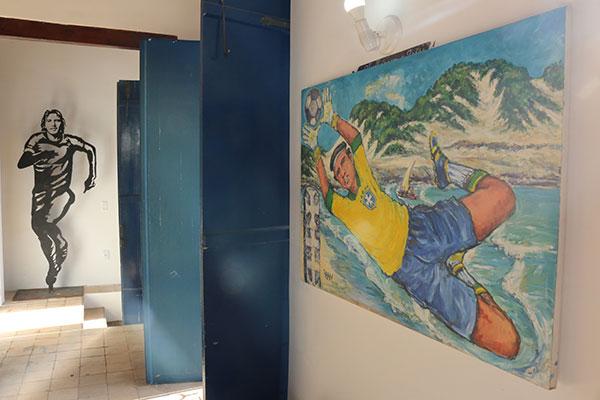 No museu Café Filho, a exposição apresenta obras de 27 artistas locais que expressam a importância do esportena vida das pessoas