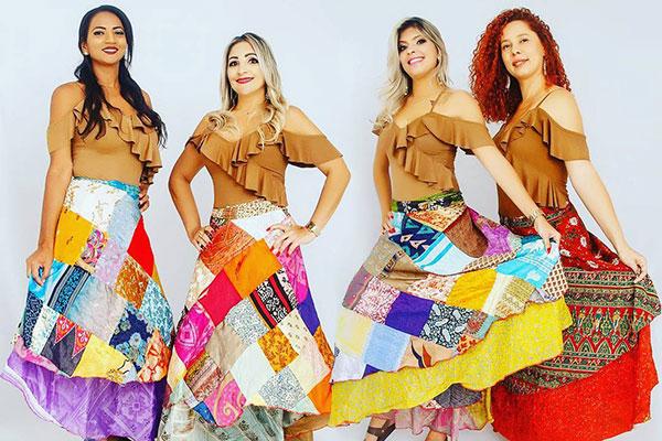 No palco da Arena Cultural Potiguar, show do As Nordestinas na sexta-feira (22)