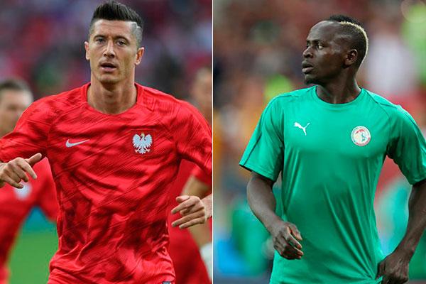Lewandowski e Mané são principais estrelas em campo