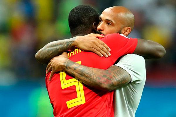 Thierry Henry é um dos ídolos do futebol francês, mas atuamente é auxiliar da seleção belga