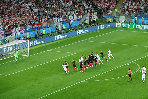Trippier marcou primeiro gol da Inglaterra em cobrança de falta