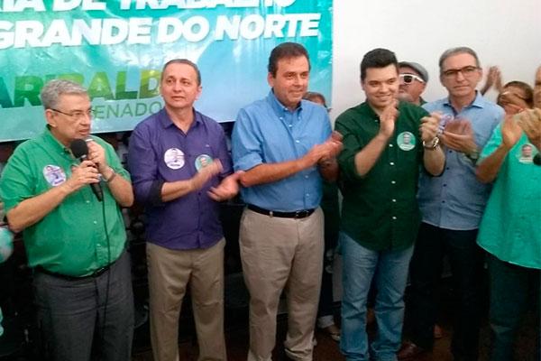 Oficialização da candidatura de Garibaldi aconteceu na sede do MDB em Natal