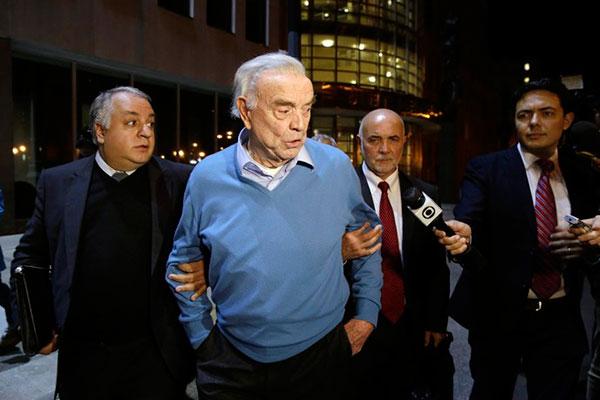 O ex-presidente da CBF, José Maria Marin está preso nos Estados Unidos acusado de corrupção