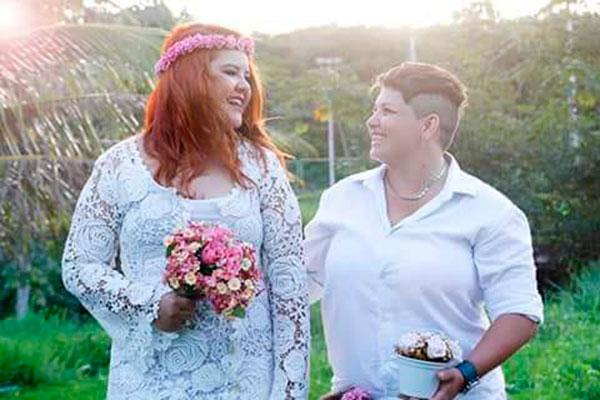 Roberta e Tomázia casaram ano passado: respeito aumentou