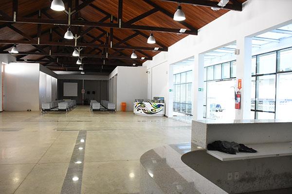 Há seis ambientes no TMP e um dos salões comporta 1500 pessoas