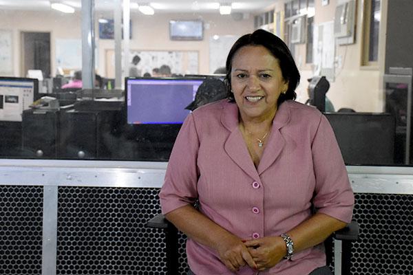 Candidata pelo PT, senadora Fátima Bezerra afirma que o governo estadual não conseguiu coibir o crime organizado