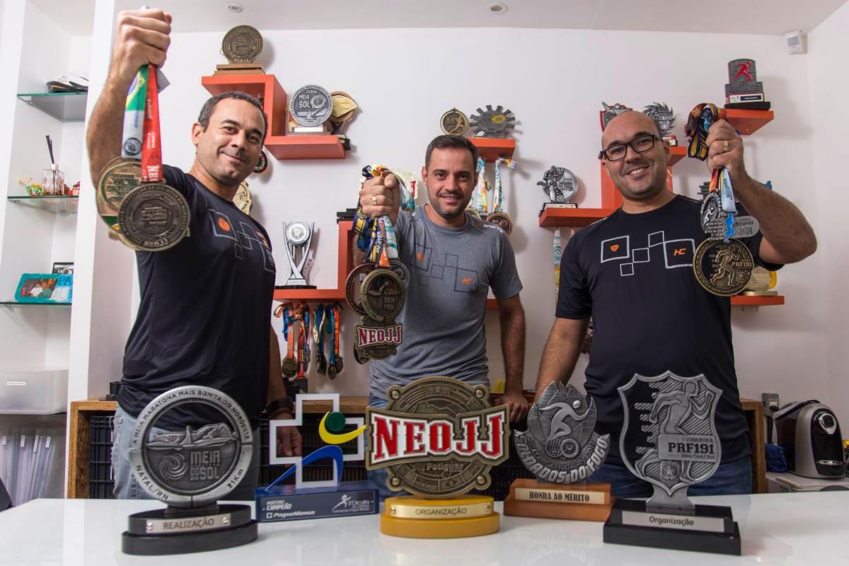 Nivaldo Pereira, Gabriel Negreiros e Alex Pereira estão satisfeitos com sucesso e prometem mais