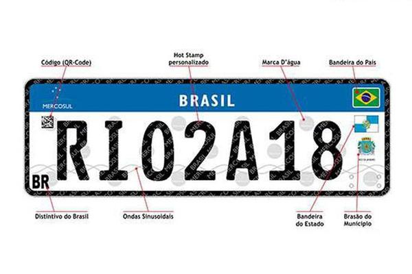 Nova placa para veículos, no padrão Mercosul, reduz chances de clonagem