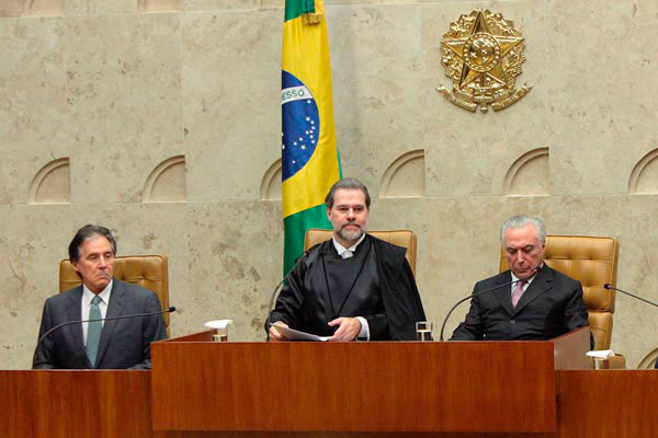 Sessão solene de posse do ministro Dias Toffoli na Presidência do Supremo Tribunal Federal