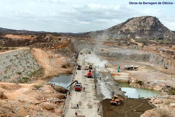 Construção da barragem de Oiticica depende de desapropriações. 186 famílias serão realocadas