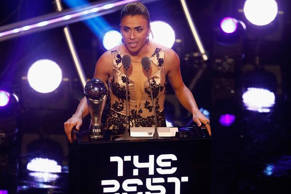 Marta ganhou o seu sexto prêmio