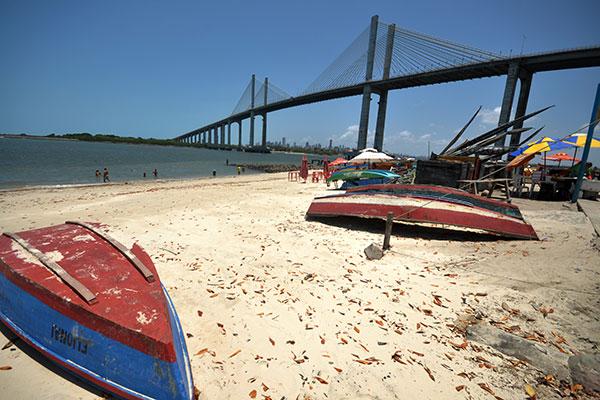 Praia da Redinha é uma das mais contaminadas. Ainda assim não é ponto impróprio para banho