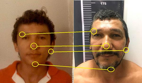 Tecnologia para comparação de imagens fez com que polícia chegasse ao criminoso