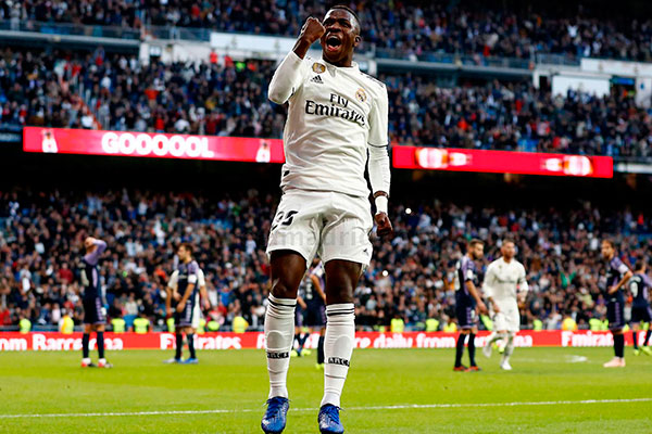 Vinícius Júnior marcou se primeiro gol com a camisa do Real Madrid