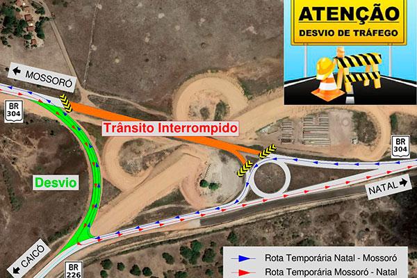 Com a interdição do trecho, o fluxo de trânsito será transferido para a alça de acesso ao viaduto