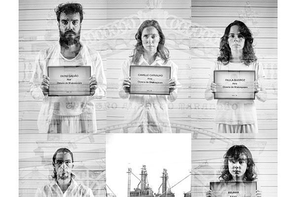 Conceito cenográfico do espetáculo conta com paineis criados por quatro artistas: Pablo Pinheiro (autor do painel da foto), Flávio Freitas, José Veríssimo e o Coletivo Aboio