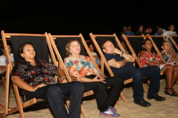A governadora eleita Fátima Bezerra, a senadora eleita e deputada federal Zenaide Maia e Jaime Calado acompanharam a sessão de abertura
