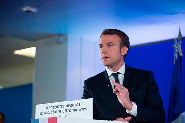 O presidente da França, Emmanuel Macron