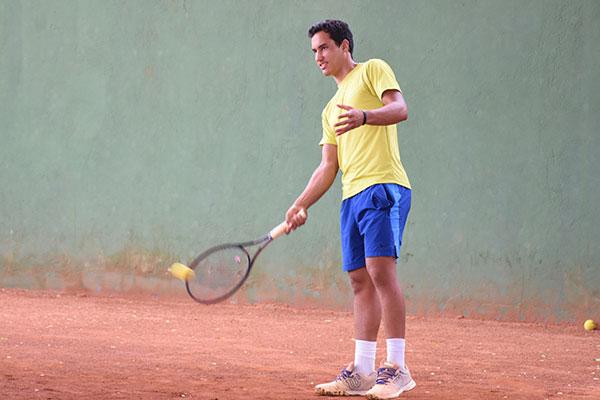 Natural de Marabá (PA), Mecenas Magno veio a Natal para treinar em busca de vaga no tênis universitário americano