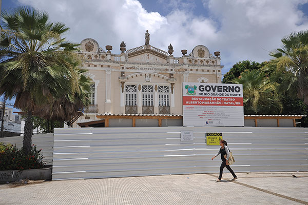 Teatro Alberto Maranhão, em Natal, fechado para adequações