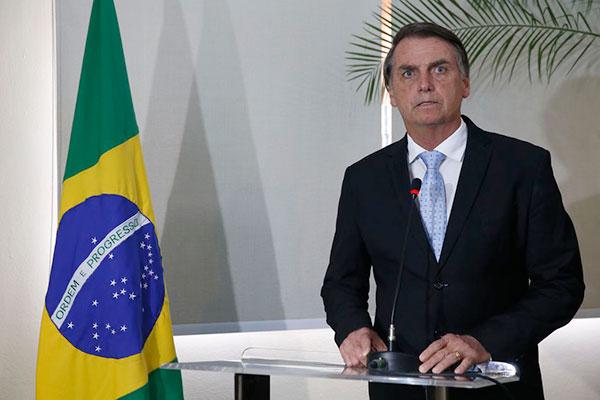Bolsonaro será empossado como presidente no dia 1º de janeiro