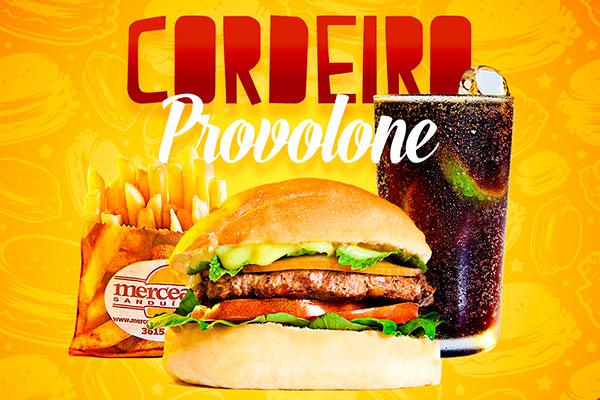 Sanduíche cordeiro provolone é um clássico de volta ao menu