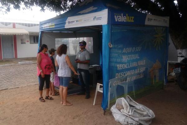 Tenda do projeto Vale Luz, da Cosern