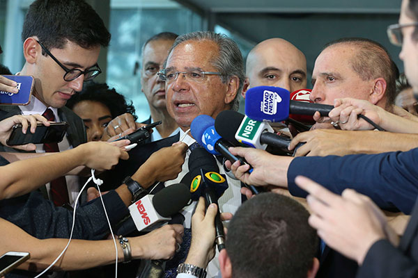Ministro Paulo Guedes deverá enviar ao Congresso Nacional projeto único e robusto para reforma