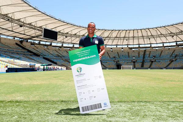 O ex-capitão da Seleção Brasileira, Cafu é o embaixador da Copa América do Brasil, este ano