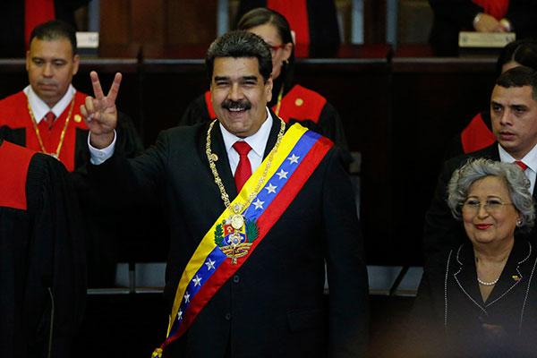 Em discurso de posse para o segundo mandato seguido, Maduro disse que vai combater corrupção