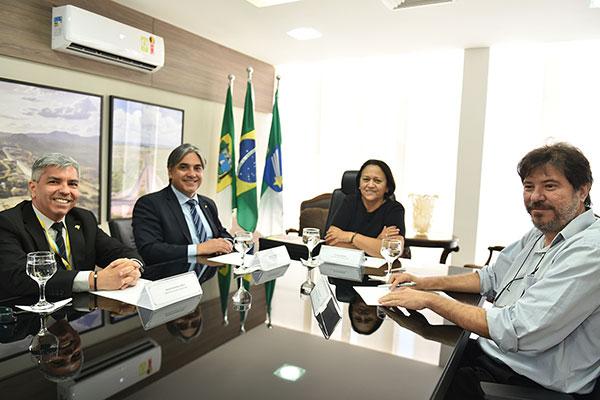 Fátima Bezerra se reuniu com o Banco do Brasil no último dia 09. Nova reunião acontece hoje
