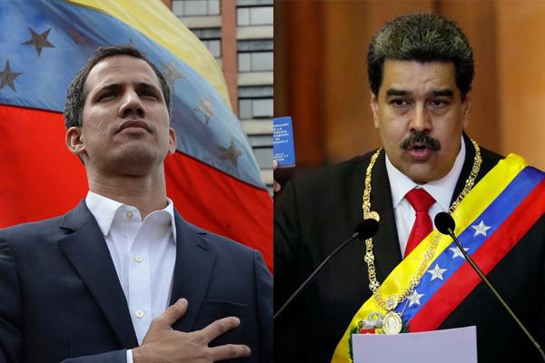 Guaidó e Maduro
