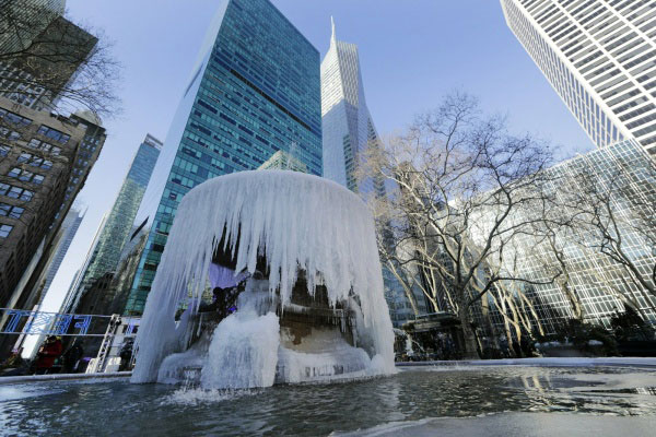 Onda de frio nos Estados Unidos deixa 20 mortos