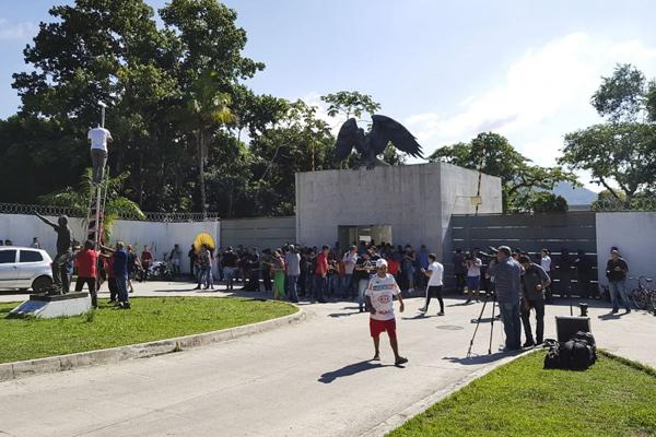 Centro de Treinamento do Flamengo, também conhecido como Ninho do Urubu, no Rio
