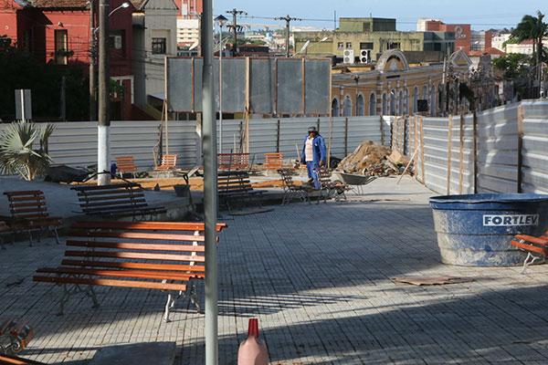 Calçadão da Praça das Mães será ampliado em mil metros na direção da Praça 7 de Setembro
