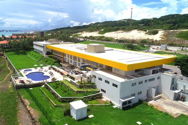 Hotel escola Barreira Roxa, localizado na Via Costeira, em Natal