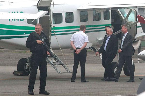 Lula se deslocou, na manhã deste sábado, em helicóptero da PF em direção a São Bernardo