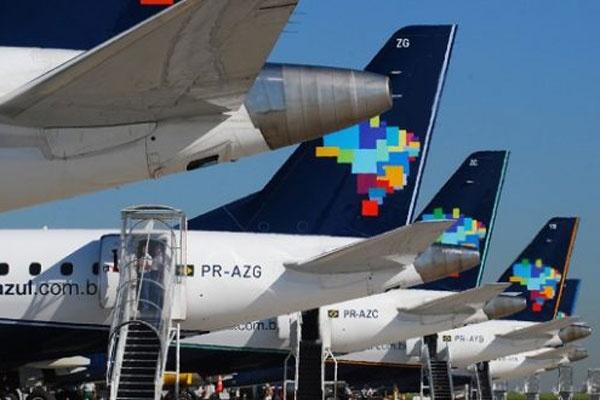 Frota de aviões da Azul